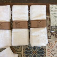 春のフォト投稿キャンペーン/DIY/100均/住まい/わたしのお気に入り/布巾/... 竹でできた布巾。洗剤いらずのエコな子です…