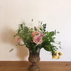 アレンジメント/花マルシェ/花/住まい/春の一枚 先日の花マルシェで私もアレンジしてみまし…