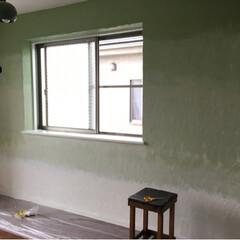 壁活/ペンキ/塗装/ウォールペイント/インテリア/DIY 元アトリエの部屋をグラデーションでペイン…