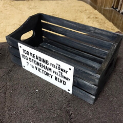 木箱大好き セリアでこんな木箱見つけたもんで こんな…(3枚目)