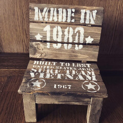 端材/ミニチュアの椅子DIY 端材でミニチュアの椅子DIY‼️ 人は座…