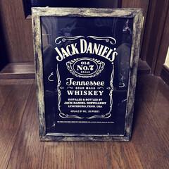 JackDaniel's/コンビニ/プリントアウト 作りたかったジャクちゃんの壁掛け やっと…