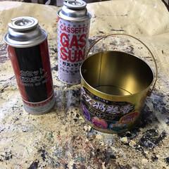 リメ缶/カセットボンベ/蚊取り線香 今日は久々の休みでリメ缶しまくり🥫いや〜…