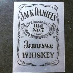 自作ステンシル/Jack Daniels 新作出来ました😁 ダニエル君Part2‼️