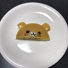 パンケーキ 娘が作ってくれたパンケーキ‼️ 作ったと…