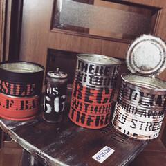 リメ缶&リメ瓶 久々リメ缶&二枚目リメ瓶を作ってみました😁(1枚目)