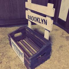 木箱大好き セリアでこんな木箱見つけたもんで こんな…