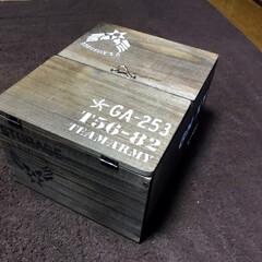 観音開き/木箱 新年2発目〜😄観音開きのちょい大きめの木…