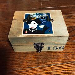お茶のパッケージ/木箱/セリア 新年一発目‼️いただき物のお茶のパッケー…