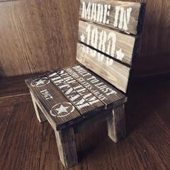 端材/ミニチュアの椅子DIY 端材でミニチュアの椅子DIY‼️ 人は座…(2枚目)