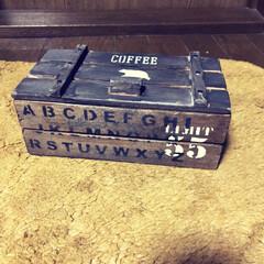 リメイク/スノコの蓋/セリア木箱 セリアの木箱にスノコで蓋をつけてみました…