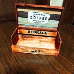 木箱と木製トレイ/ダイソー ダイソーの木箱と木製トレイで またこれ作…