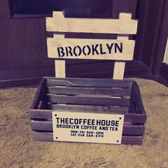 木箱大好き セリアでこんな木箱見つけたもんで こんな…(2枚目)
