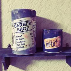 リクエスト/リメ缶 リメ缶🥫一枚目知合いの美容室に貰われてい…