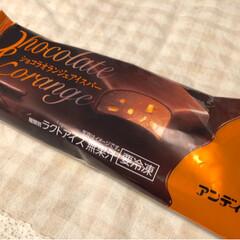 オレンジピール/ラクトアイス/アイス/コンビニスイーツ/ローソン/LIMIAごはんクラブ/... 風呂上がりにアイス!(o´罒`o)♡ ロ…