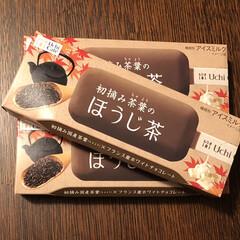 UchiCafe/新商品/ほうじ茶/グルメ/アイスクリーム/アイス/... フォロワーさんのフォトに載ってたアイスが…