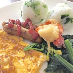 昼食/お昼ごはん/お昼ご飯/LIMIAごはんクラブ/わたしのごはん/おうちごはんクラブ/... お昼ご飯はワンプレートで☆ 菜の花のおに…