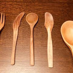 れんげ/バターナイフ/スプーン/ナイフ/フォーク/カトラリー/... 我が家は木のカトラリーを集めてます。温か…