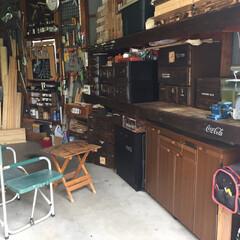 ガレージ/わたしの作業部屋 作業部屋というよりもガレージ(車庫)です…