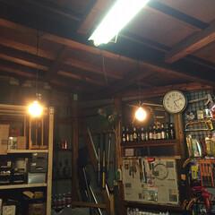 エジソン電球LED/LED/ガレージ/照明/駐車場/物置/... ガレージにニトリのLEDフィラメント電球…(4枚目)