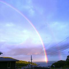 雨の後/虹 今日は一日、雨の予報ですね。 皆さん、お…