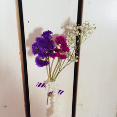 スターチス/花/ドライフラワー/ボタニカル/DIY/雑貨/... スターチスとかすみ草のドライフラワー♡ …