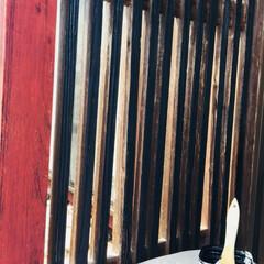 水性塗料/DIY/100均/セリア/住まい/リフォーム/... セリアの水性塗料、ブラックを使って  塗…