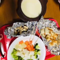 チーズフォンデュ/おうちごはん/フード どうしても 食べたくて、チーズフォンデュ…