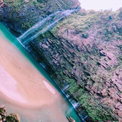 鹿児島/雄川の滝/滝/マイナスイオン/癒し 西郷どんのオープニングで流れている…鹿児…
