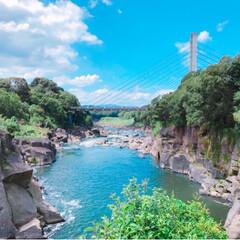 青い空/おでかけ/癒し/滝/マイナスイオン 25年ぶりに、鹿児島の曽木の滝におでかけ…