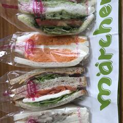ランチ/ベジタブル/野菜/サンドイッチ/グルメ/フード/... メルヘンのサンドイッチ(^^) 母が野菜…