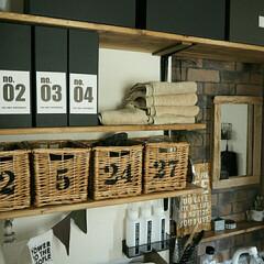 洗面所/流木/Seria/IKEA/DIY/リフォーム/... 洗面所は男前要素高いです☺