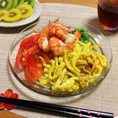 夕飯/フード/おうちごはん 今日の夕飯🍴 冷やし中華♡