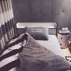 ベッド周り/枕カバー/ピローケース/ベッドルーム/モノトーン 夏に向けてシンプルに‼︎ かつ塩系インテ…