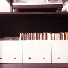 ファイルボックス/DJブース/レコード整理/DJ/レコード/インテリア/... 無印良品のファイルボックスがレコードにシ…