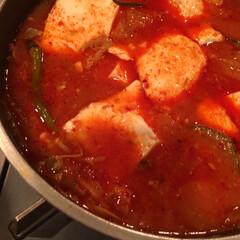無駄なしキムチスープ キムチがだいぶ発酵して酸味が増したのでキ…