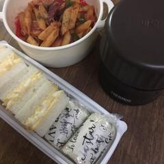 お弁当/みんなのお弁当 ナポリタン弁当🍱  玉子サンド、ツナセロ…(1枚目)