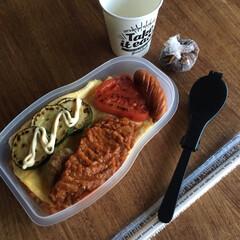 平成弁当/お弁当/みんなのお弁当 豚の生姜焼き弁当🍱  出し巻き三つ葉玉子…(6枚目)