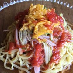 市販のタレをアレンジ/春雨サラダ/冷やし中華 冷やし中華  市販のタレにバルサミコ酢、…