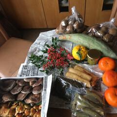 きのこ鍋/頂き物/リミアな暮らし 母のお友達が作った野菜がたくさん送られて…