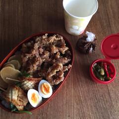 平成弁当/お弁当/みんなのお弁当 豚の生姜焼き弁当🍱  出し巻き三つ葉玉子…(3枚目)