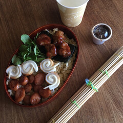 平成弁当/お弁当/みんなのお弁当 鰹節唐揚げ海苔弁当🍱  目玉焼き、本門寺…(8枚目)