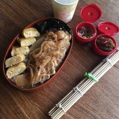 生姜焼き/お弁当/わたしのごはん 豚の生姜焼き弁当🍱  だし巻き卵、ピリ辛…