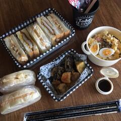 平成弁当/お弁当/みんなのお弁当 豚の生姜焼き弁当🍱  出し巻き三つ葉玉子…(2枚目)