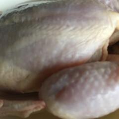 ほうとう/参鶏湯風/ローストチキン/クリスマス2019 丸鶏の半身をビニールに入れ、摩り下ろしに…(3枚目)