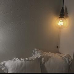 ライト/照明/インテリア/雑貨/DIY/イケア/... IKEA で電球とホームセンターでコード…