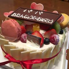 デコレーション/誕生日/ケーキ/スイーツ 誕生日ケーキ🎂 美味しかった😆