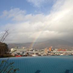 北海道/札幌市/雨上がり/虹/梅雨 虹って癒される😆