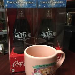 コレクション/記念ボトル/15周年/コカコーラ/ディズニーシー コレクションが増えました😆