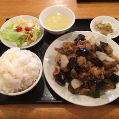 豚肉/茄子/定食/中華/ランチ/グルメ/... これで780円 お腹が苦しいです😵(1枚目)